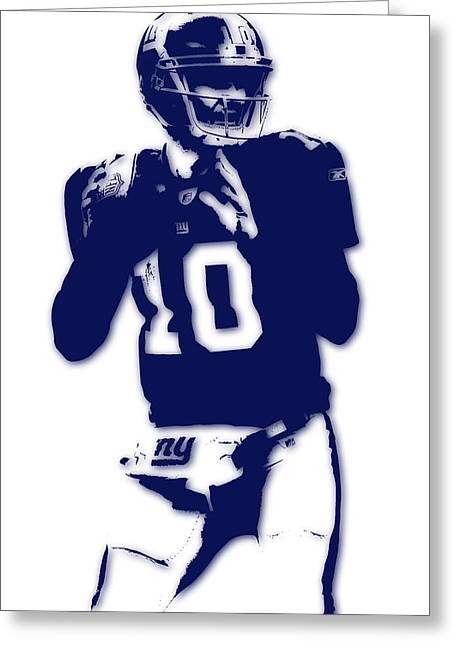 New York Giants Eli Manning Greeting Card by Joe Hamilton