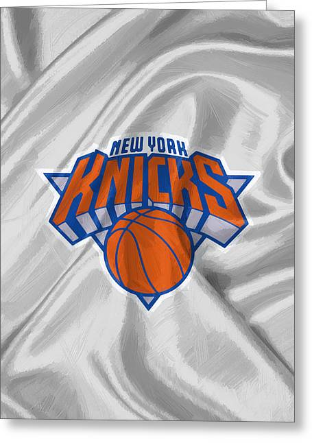 New York Knicks Greeting Card by Afterdarkness