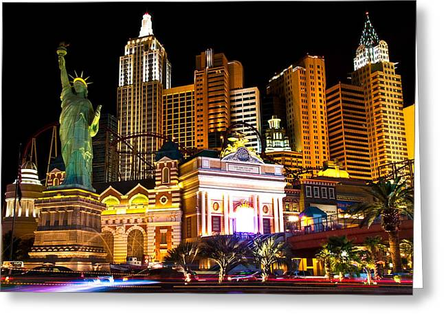James Marvin Phelps Greeting Cards - New York  New York Casino Greeting Card by James Marvin Phelps