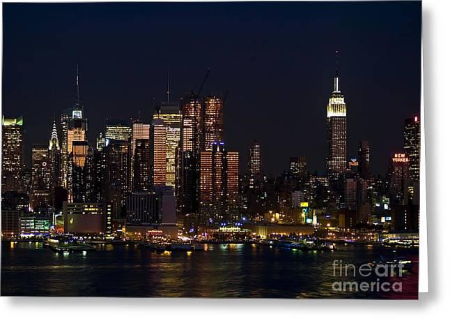 New York Skyline View Greeting Card by Andrew Kazmierski