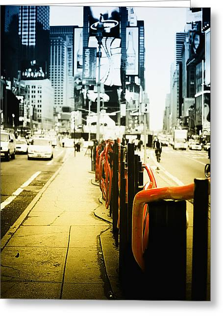 Times Square Digital Greeting Cards - New York Times Square Greeting Card by Dapixara Art