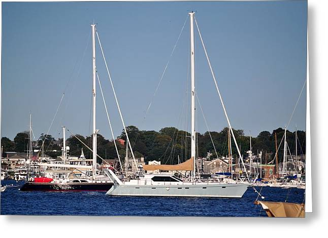 Masts Greeting Cards - Newport Rode Island Greeting Card by DeTerra Photography