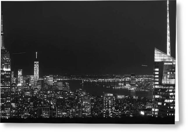 View Pyrography Greeting Cards - Newyork Sky Line  Greeting Card by Todd Williams