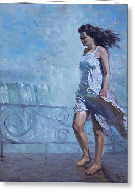 Niagara Falls Greeting Cards - Niagara Falls Mist  Greeting Card by Ylli Haruni