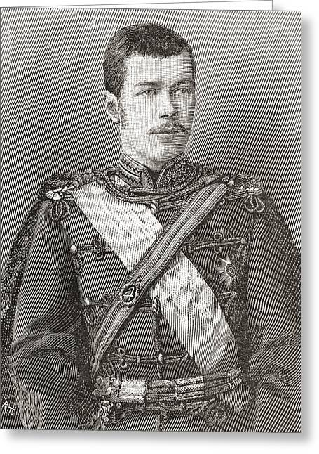 Nicholas Drawings Greeting Cards - Nicholas Ii, 1868 Greeting Card by Ken Welsh