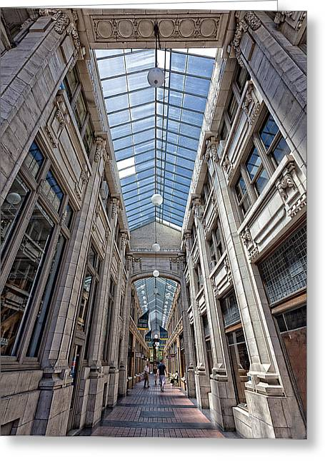 Recently Sold -  - Glass Wall Greeting Cards - Nickles Arcade Greeting Card by Cindy Lindow
