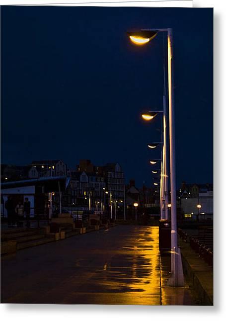 Night Lamp Greeting Cards - Night Lights Greeting Card by Svetlana Sewell