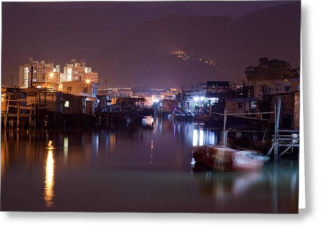 Night Scenes Greeting Cards - Night Scene Greeting Card by Kam Chuen Dung