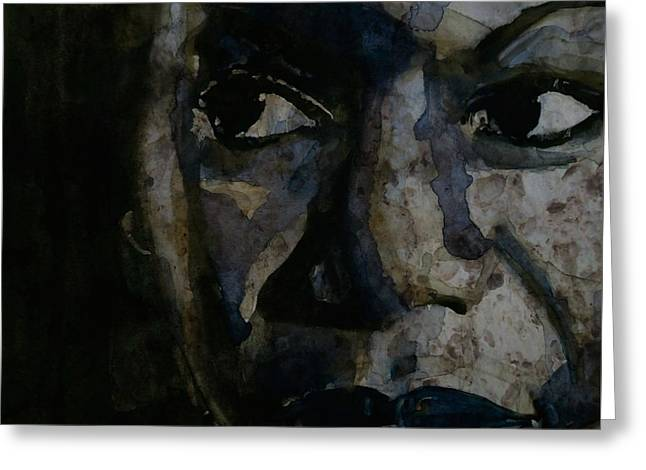 Civil Rights Activists Greeting Cards - Nina Simone  Greeting Card by Paul Lovering
