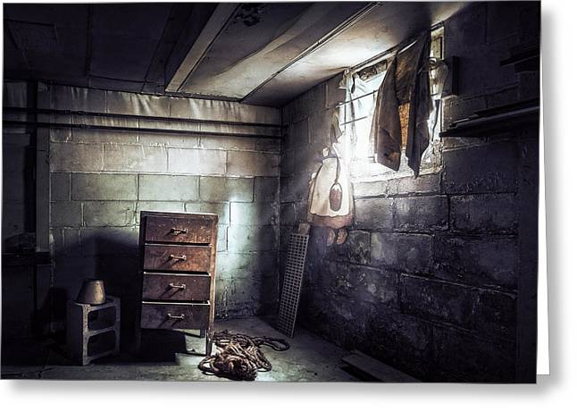 Basement Greeting Cards - No Escape II Greeting Card by Scott Norris