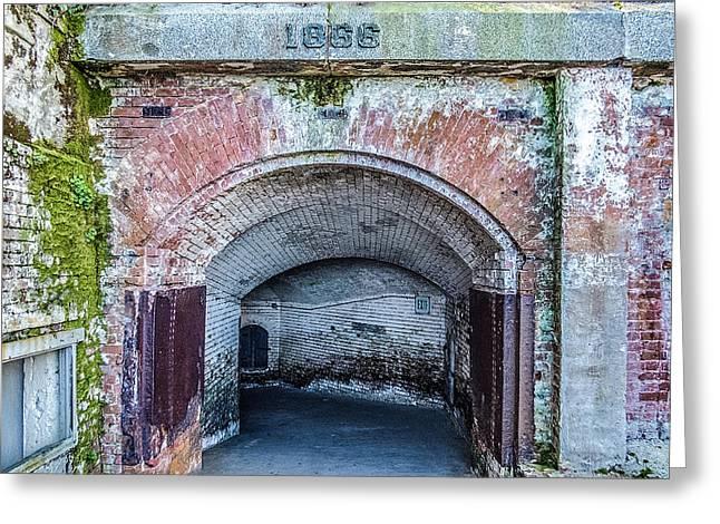 Algae Greeting Cards - Alcatraz 1866 Tunnel Greeting Card by Patti Deters