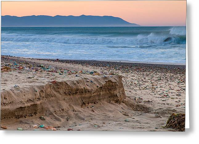 Ocean Art Photography Greeting Cards - Cayucos State Beach Sunrise Greeting Card by Patti Deters