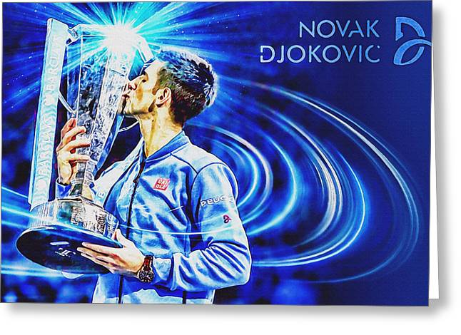 No1e  -  Novak Djokovic Greeting Card by Nenad Cerovic