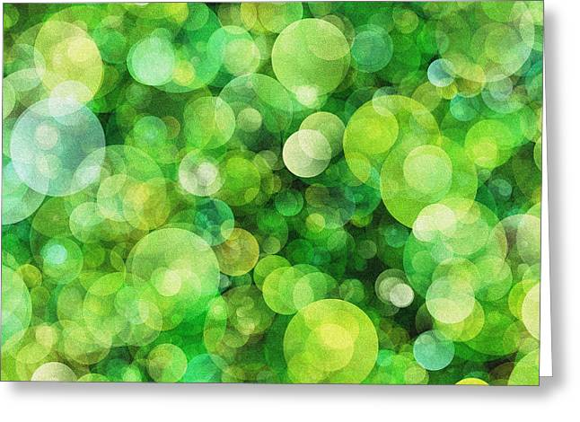 Bokeh Paintings Greeting Cards - Noised bokeh Greeting Card by Celestial Images
