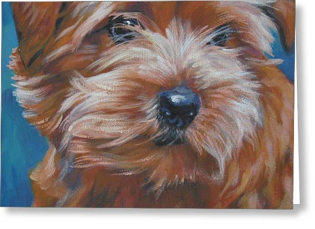 Norfolk Greeting Cards - Norfolk Terrier Greeting Card by Lee Ann Shepard