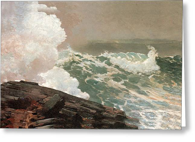 Northeaster. Greeting Card by Winslow Homer