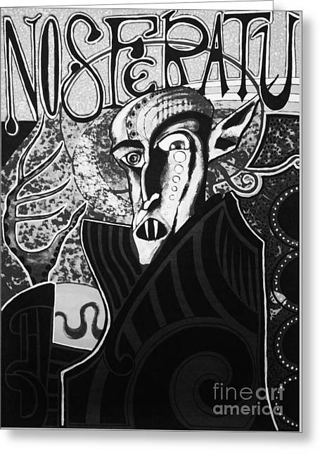 Michael Kulick Greeting Cards - Nosferatu Greeting Card by Michael Kulick