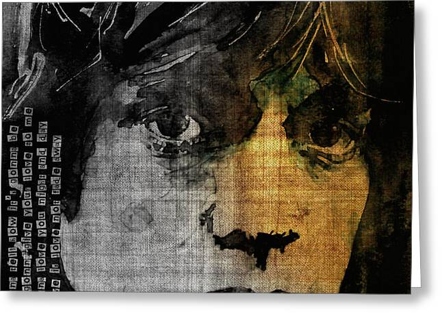 Lead Singer Greeting Cards - Not Fade Away  Greeting Card by Paul Lovering