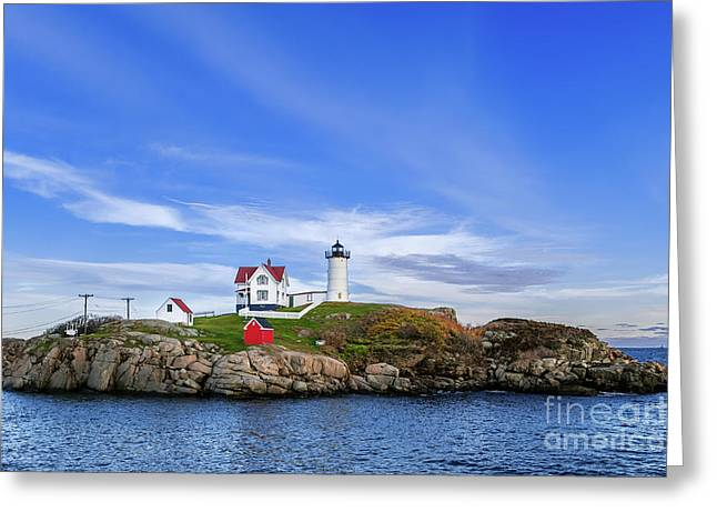 Cape Neddick Greeting Cards - Nubble Light Greeting Card by John Greim