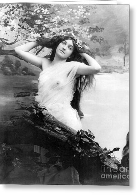 Racy Greeting Cards - Nude Model, 1903 Greeting Card by Science Source