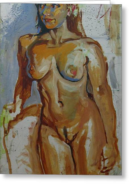 Nude Portrait Of A Greeting Card by Piotr Antonow