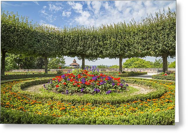 Nuremberg Castle Gardens Greeting Card by Melanie Viola