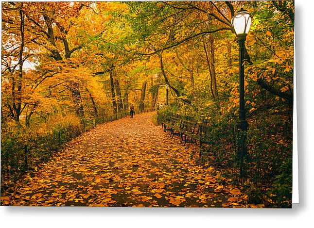 Nyc Autumn Greeting Card by Vivienne Gucwa