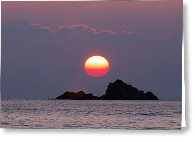Pacfic Ocean Greeting Cards - Oahu Sunrise Greeting Card by Michael Peychich