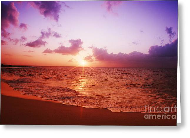 Vince Greeting Cards - Ocean Sunset Greeting Card by Vince Cavataio - Printscapes