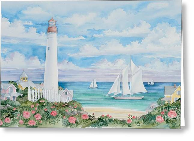 Ocean Views Greeting Cards - Ocean View Lighthouse Greeting Card by Paul Brent