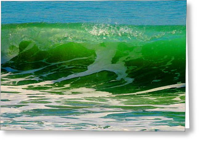 Surfer Art Greeting Cards - Ocean Wave Greeting Card by W Gilroy