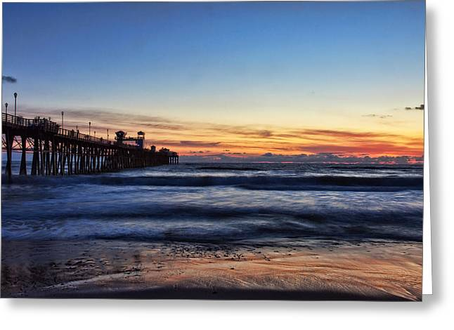 California Beach Greeting Cards - Oceanside Sunset III Greeting Card by Diana Powell