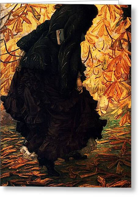 Kathleen Greeting Cards - October Greeting Card by James Jacques Joseph Tissot