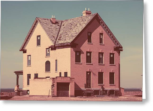 Officers Row Houses Greeting Card by Erin Cadigan