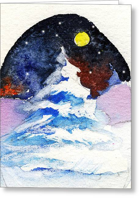 Snow Drifts Drawings Greeting Cards - Oh Christmas Tree Greeting Card by Mindy Newman