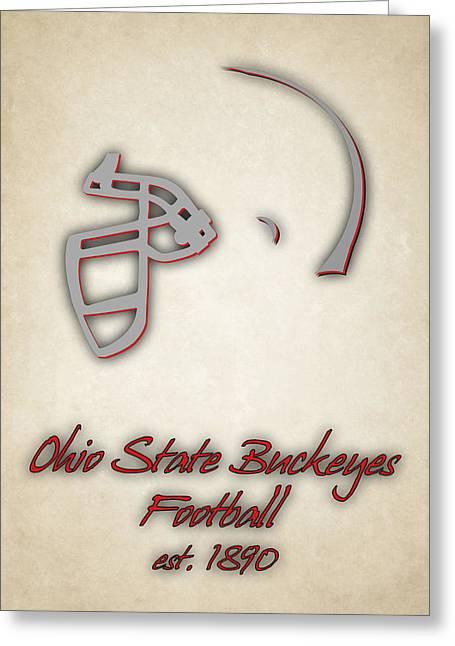 Ohio State Buckeyes Greeting Card by Joe Hamilton