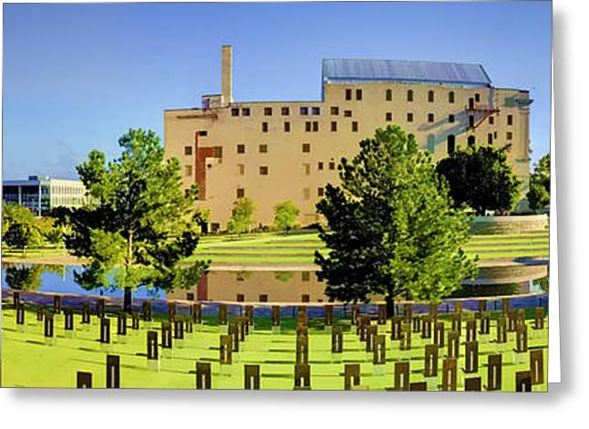 National Memorial Greeting Cards - Oklahoma City National Memorial Greeting Card by Ricky Barnard
