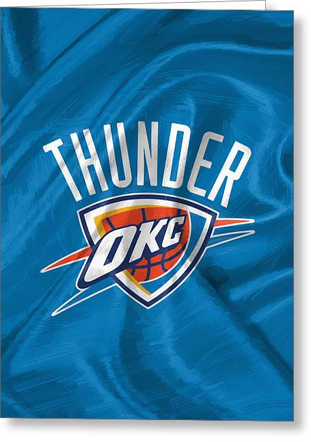 Oklahoma City Thunder Greeting Card by Afterdarkness