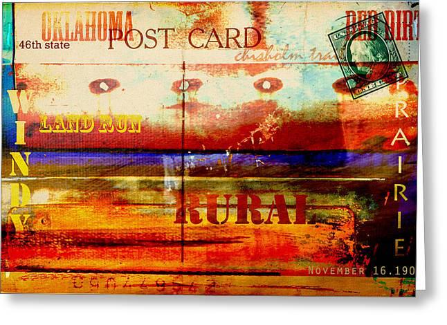 Oklahoma  Greeting Card by Toni Hopper