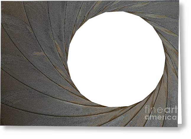 Aperture Greeting Cards - Old Aperture - Exposure Diaphragm Greeting Card by Michal Boubin