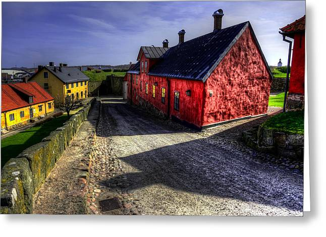 Stock Images Greeting Cards - Old buildings in HDR Greeting Card by Toppart Sweden