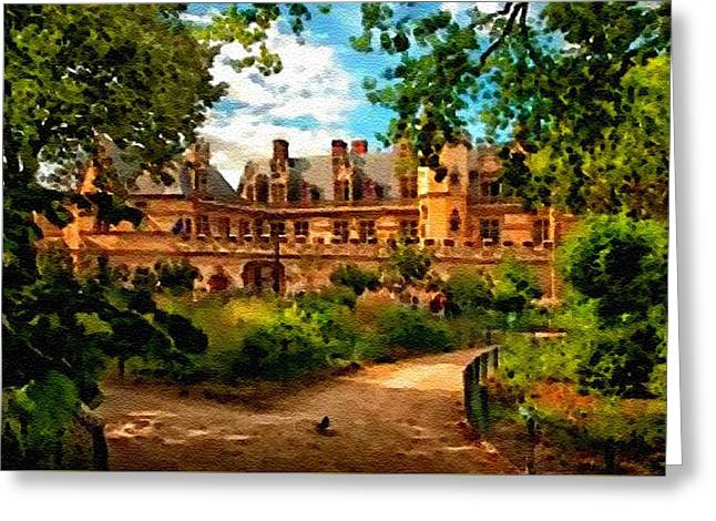 Cellphone Greeting Cards - Old Castle - France H B Greeting Card by Gert J Rheeders
