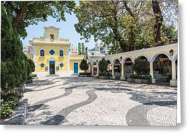 St. Francis Day Greeting Cards - Old church in Macau Greeting Card by Didier Marti