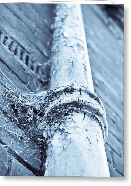 Old Drain Pipe Greeting Card by Tom Gowanlock