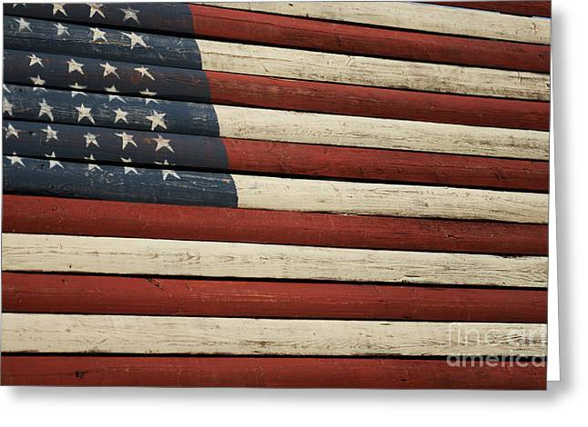 Betsy Ross Greeting Cards - Old Glory Greeting Card by David Bearden