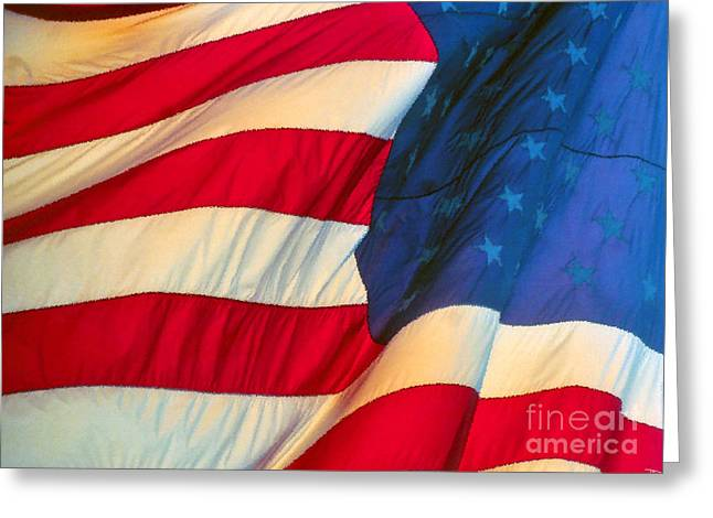 Stars And Strips Greeting Cards - Old Glory Greeting Card by David Lee Thompson