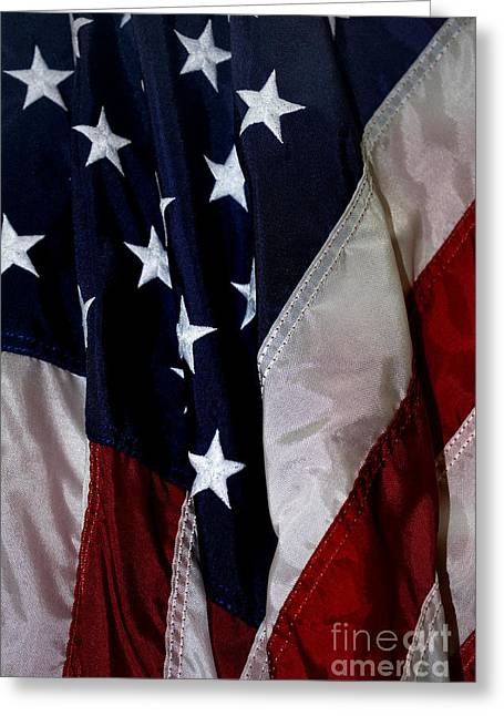 Table Greeting Cards - Old Glory Greeting Card by Skip Willits