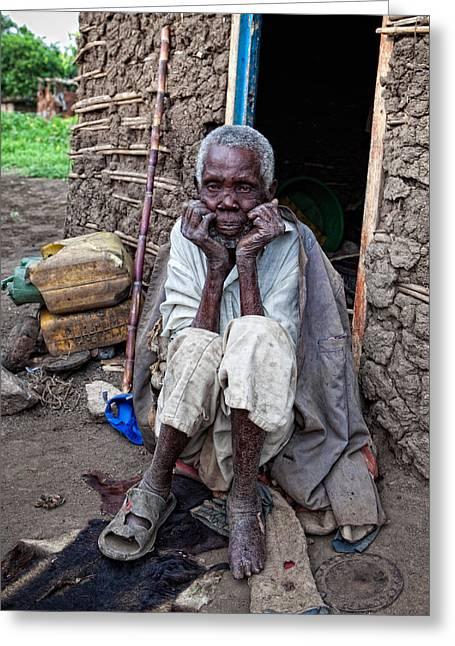 Old Man Africa Greeting Card by Jennifer K