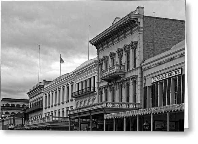 Old Sacramento Greeting Cards - Old Sacramento - Architectural Details Greeting Card by Mountain Dreams