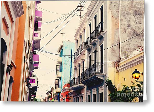 Puerto Rico Greeting Cards - Old San Juan Puerto Rico Greeting Card by Kim Fearheiley